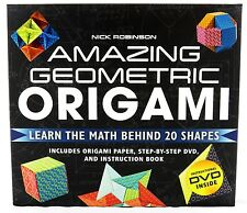 Amazing Geometric Origami Craft Kit and Book NEW asian oriental paper art escher