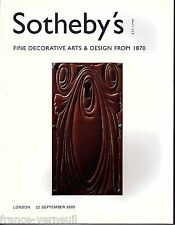 Sotheby's Art Deco Fine 20th century Decorative Arts & Design from 1870 2005