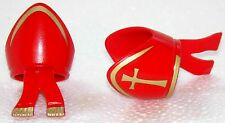 2 x MITRA BISCHOF Hat RED GOLD PLAYMOBIL to Monk Church Pope Hat Abt - 1571