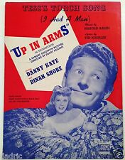 "1944 ""UP IN ARMS"" MOVIE SHEET MUSIC DANNY KAYE ""TESS'S TORCH SONG"""