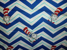 CLEARANCE FQ DR SEUSS CAT IN THE HAT CHARACTER ZIGZAG FABRIC RETRO KITSCH