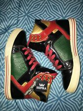 Mens Supra Shoes Size 7 Muska Multi Colors Red Green Black Gold Cool Shoes FREE