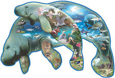 Manatees 1000 Piece Shaped Jigsaw Puzzle by SunsOut