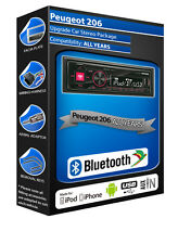 Peugeot 206 Auto Radio Alpine ute-72bt Bluetooth Manos Libres mechless estéreo