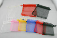 3 Size 25/50/100 pcs Organza Jewelry Wedding Candy Favor Gift Bag Pouch 12x16cm