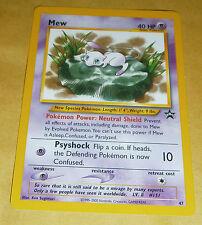 Tarjeta Estrella Pokemon Negro - #47 Mew Promo-V Raro