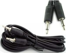 """12ft long 1/8""""MONO Male-M,3.5mm Plug,Audio Lead Patch/Cable/Cord/Wire 2conductor"""