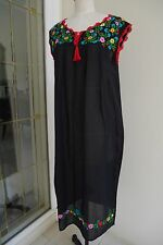 Clearance Sale,Hand Embroidery Mexican Inspired Dress, Beach Wear, Oaxacan Dress