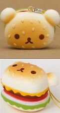 New Rilakkuma Face  �� Hamburger Burger Squishy Charm Strap US SELLER