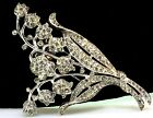 TRIFARI Philippe Lilly Lily Of The Valley Flower Figural Rhinestone FUR CLIP Pin