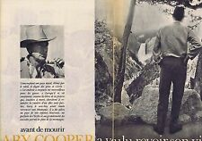 COUPURE DE PRESSE CLIPPING 1961 GARY COOPER (4 pages)