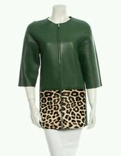 bnwt CÈLINE Pheobe Philo Collection green leather jacket.sz 36/uk 10. £4765