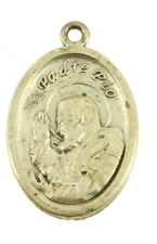 VINTAGE SAINT PADRE PIO PRAY FOR US OVAL CATHOLIC PENDANT MEDAL RELIEF NICE