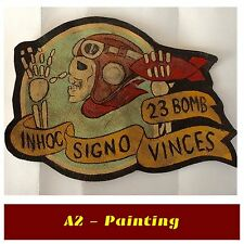 WW2 Hand Painted 23rd Bomb Squadron Leather Patch For A2 G1 Jacket