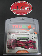 "Truglo Carbon XS eXtreme 5 pin pink camo  Bow Sight .019""  Left/Right Hand"