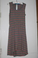 Icebreaker Crush Dress Striped 100% Merino Wool Heathered Gray M