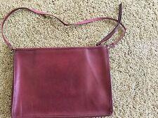 Rare Coach New York Bonnie Cashin Clutch Crossbody Portfolio Burgundy Bag 3914