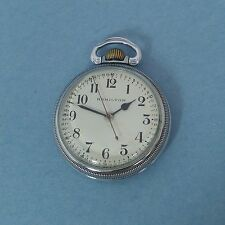 Rare HAMILTON 4992B 22J AN 5740 Military 12 hr. Hack Sweep Seconds POCKET WATCH