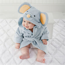 Cute Animal Cartoon Baby Kids Hooded Bathrobe Toddler Boy Girls Bath Towel Cloth