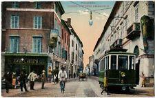 1916 Piacenza - C. Vittorio Emanuele, vecchio tram, bicicletta - FP COL VG ANIM