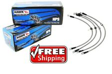 Hawk HPS Performance Brake Pads & Stainless Brake Lines 2005-2012 Corvette Base