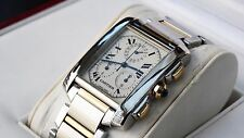 CARTIER TANK Francaise Chronoflex Stainless Steel 18K Yellow Gold 2303