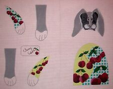 KW 1302 Cherry Cobbler Rabbit 3D Soft Sculpture Hand Painted Needlepoint Canvas