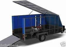 Trailer Plans- 4m ENCLOSED TRAILER-4000x2000x1500mm(±13x6½x5ft)- PLANS ON CD-ROM