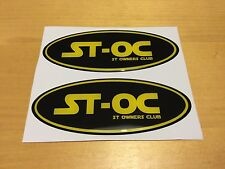 Ford Fiesta ST MK6 & Mondeo ST MK3 ST-OC Gel Overlay  Badges Black and Yellow