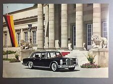 "1963 Mercedes Benz 600 ""The Grand Mercedes"" Showroom Sales Sheet RARE!! Awesome"