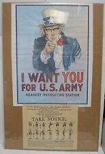 Post Office Uncle Sam (Armed Forces) Recruiting Posters