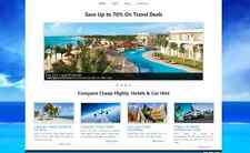 Travel Agency Flights Hotels Compare Car Rental website for sale Fully Automated