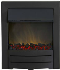 ELECTRIC 2KW LED BLACK MODERN FLAME INSET FIRE FIREPLACE INSERT COAL SURROUND