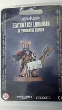 Warhammer 40K Space Marine DEATHWATCH LIBRARIAN IN TERMINATOR ARMOUR New Sealed