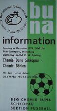 Programma 1979/80 BSG Chemie Buna Schkopau-Chemie Böhlen