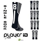 TCK® Player ID Elite Number Sock, Black - (Blank,0-9) - (Buy 2 for a pair)