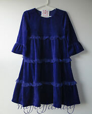 HANNA ANDERSSON Love to Twirl Tiered Velour Dress Grape Juice 80 18-24 2T 2 NWT