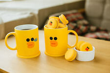 LINE Friends SALLY Two Face Mug Cup Naver App Character Home Living Gift Decor