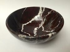 Red Zebra Bowl Marble Natural Stone Kitchen Serving Dish Sauce Spice Herb Ritual