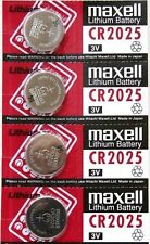 4 pcs Maxell CR2025 2025 3V cell coin button battery for calculator