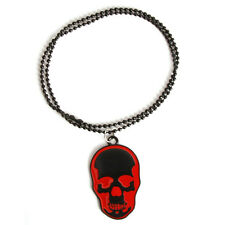10pcs Black&Red Enamel Skull Charms Alloy Pendants Necklace Costume Jewellery C