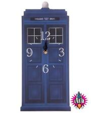 NEW CLASSIC VINTAGE RETRO TED SMITH POLICE BOX WALL HANGING CLOCK NEW IN BOX