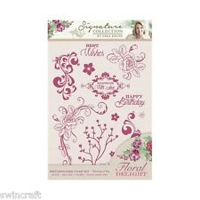 Crafters Companion FLORAL DELIGHT - Thinking of You  - Clear Stamp Set A6 *