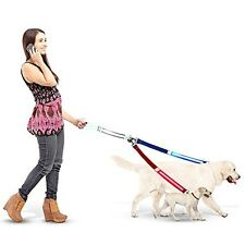 PawPrince Double Dog Leash with LED Light and Ebook Guide