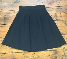Black Rib Knit Jersey Circle Skater Skirt From Cos, Size Small