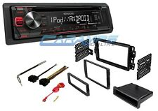 NEW KENWOOD STEREO CD PLAYER WITH USB & AUX INPUT RADIO W/ INSTALL KIT & HARNESS