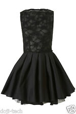 Jones & Schwarze Spitze Audrey Tutu Skater Cocktail Party Ballkleid 12 40 US8