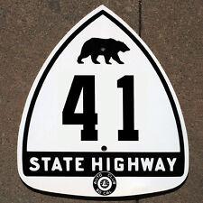 California ACSC bear route 41 highway road sign auto club AAA James Dean Fresno