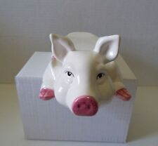 House of Lloyd Pig Vtg Cheese Board Ceramic White 1994 Kitchen Dining Gift