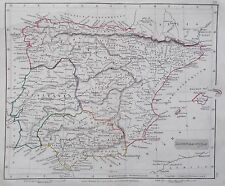 Map of Ancient Spain & Portugal, HISPANIA. LUSITANIA. 1840. Arrowsmith Original